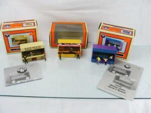 SET OF 3 LIONEL TRAIN ACCESSORIES BOXED 6-34158 6-34159 6-37959 AMUSEMENT PARK