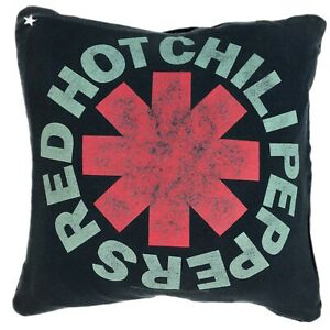 Vintage Red Hot Chili Peppers Rock Tee T Shirt Pillow Cover Handmade 16 X 16