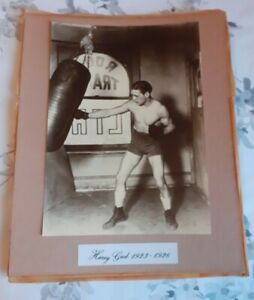 RARE IMAGE HARRY GREB VINTAGE PHOTO BOXING HITTING PUNCHBAG , ONE OFF ? UNSEEN