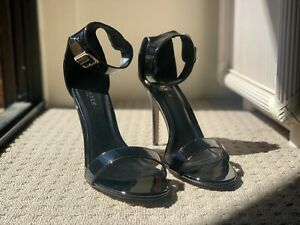 Amuse 10 Sandal Black Patent Pleaser - Size US12/EU42/UK9 - Never Worn With Box!