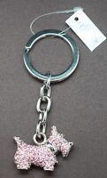 Pink Scottish Terrier Key Chain made with Swarovski Crystals