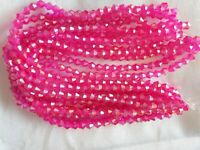 Joblot of 10 strings Dark pink AB 6mm bicone shape Crystal beads new wholesale