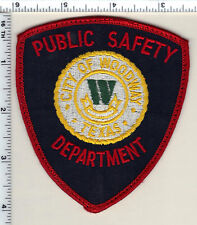 City of Woodway Public Safety (Texas) Uniform Take-Off Shoulder Patch from 1991