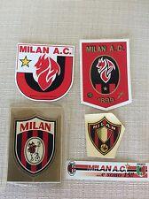 5 ADESIVI CALCIO A.C. MILAN SQUADRA ANNI '60 '70 '90    B
