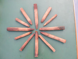 Salvaged Antique Wooden Framing Pegs Hand Hewed Barns & Houses Lot of 12 *C