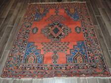 5x6ft. Handmade 19th Century Antique Tribal Wool Rug