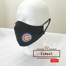 Chicago Cubs Face Mask , Washable, Reusable Adjustable fits all sizes