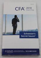CFA 2018 Schwesers Secret Sauce Exam Prep Level III englisch Kaplan