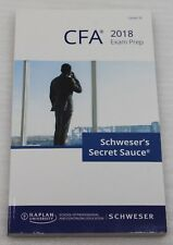 Cfa 2018 Schwesers Secret Sauce Exam Prep Level III Inglés Kaplan