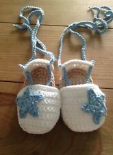 Esparteña Bebe 0/3 Meses Patucos Alpargatas Zapato Recién Nacido Punto Crochet