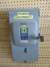 Square D Fusible Safety Disconnect Switch D323Nrb 100A 240Vac 30Hp Type 3R