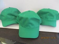 LOT OF 3 NEW-GREEN CAPS/HATS-6 PANEL-SNAPBACK-COTTON BLEND-OSFM-BY OTTO-[A102