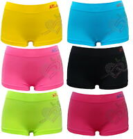 6 PK LADIES BOXER SHORTS SEAMLESS UNDERWEAR WOMEN PANTIES BOYSHORTS LOVE DESIGN