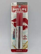 NEW MAYBELLINE BABY LIPS CRAYON - REFRESHING RED #25 - COLOR LIP BALM