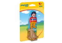 9256 playmobil 1 2 3 * Mann mit Hund * für Kinder ab 1½ Jahren / 18 Monate NEU