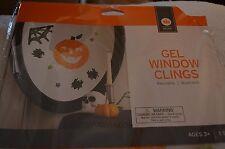 New ! Halloween Gel Window Clings NIP Pumpkin Spider Web Spiders Stars