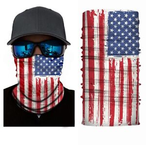 Fishing Shield Bandana Cloth Face Mask Facemask neck Gaiter USA American Flag