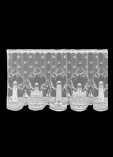 """Heritage Lace White LIGHTHOUSE Window Tier 24""""L"""