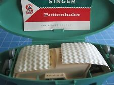 Vintage 1960 Singer Sewing Machines Buttonholer + 6 Templates +Instruction Book