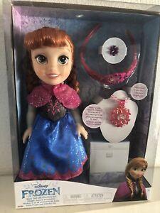 "BNIB - Disney Frozen 13"" Toddler Anna Doll with Accessories by Jakks Pacific"