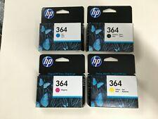 4 original HP Tintenpatronen HP 364 Black Yellow Cyan Magenta 2018 OVP Rechnung