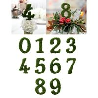 Table Numbers Wedding 1-10 Moss Rustic Standing Reception Decorations Signs