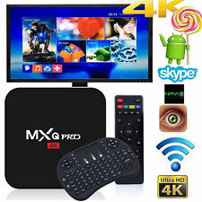 MXQ PRO S905X 4K Quad Core WiFi Android 6.0 Marshmallow 8G 17.3 TV Box +Keyboard