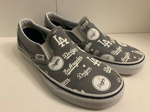 Vans X MLB Los Angeles Dodgers Slip On Shoes Men's 6 Women's 7.5 - Clean
