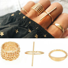 7 Pcs/Set Gold Women Stackable Ring Knuckle Finger Ring Band Midi Rings Jewelry