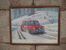 CAR PRINTS: MINI MONTE 1964 MONTE CARLO RALLY LIMITED EDITION