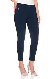 Stooker Madrid Damen Stretch Perfect Slimfit Style Hose - Blue Marine
