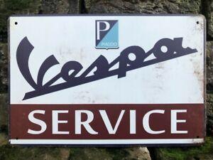 VESPA SERVICE SCOOTER ITALIAN CLASSIC VINTAGE RETRO METAL SIGN PLAQUE 30X20cm