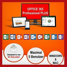 Microsoft Office 365 PRO PLUS  MS® Office 2016 PROFESSIONAL Plus ✔ Für 5 PC/MAC✔