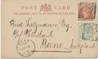 "GB ""LONDON""  rare Fancy Geometric Squared Circle Postmark (M. Barette Type IIA"