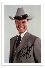 LARRY HAGMAN DALLAS AUTOGRAPH SIGNED PHOTO PRINT J R EWING