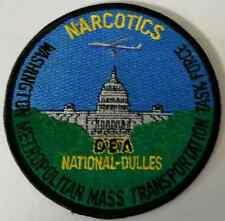 DEA Washington Metro Mass Transportation Task Force Narcotics Cloth Patch