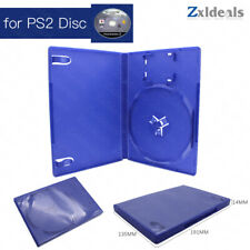 Replacement Case for PS2 Game Disc Spare Blue Game Playstation 2 Box Single CD