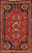 Vegetable Dye Antique Animal Design 6x9 Kashkoli Oriental Area Rug Carpet