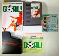 Goal (Nintendo Entertainment System, 1989) CIB Complete Soccer Jaleco NICE!