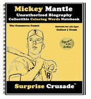 Mickey Mantle Baseball Card Sports Trading Card Notebook AUTHOR AUTOGRAPHED