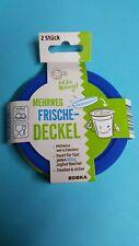 2 Frischedeckel Silikon für fast jeden 500g Joghurtbecher