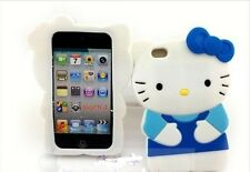 Hello kitty 3D Ipod Touch 4 4th Generation Soft Silicone Case Cover Blue