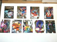 1995 Fleer ULTRA X-Men HUNTERS & STALKERS SILVER INSERT 9 CARD SET! DEADPOOL!