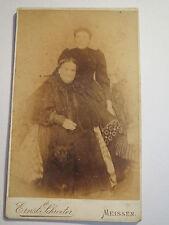 Meissen - 2 Frauen im Kleid - Portrait / CDV