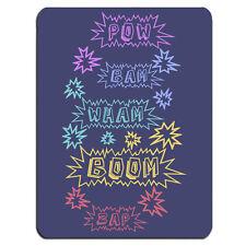 Pop Art Azul POW BAM WHAM ZOOM ZAP Geek Nerd Cómic Libro alfombrilla de ratón PC