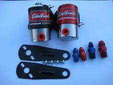 *NEW EDELBROCK PERFORMER RPM NITROUS+FUEL SOLENOID KIT W/FITTINGS+BRACKETS-400HP