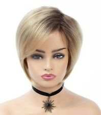 Short Ombre Blonde Bob Heat resistant Full Synthetic Wig - 989