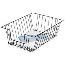 Fellowes® Wire Desk Tray Organizer, One Tier, Wire, Black 077511651120