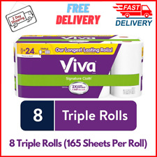Signature Cloth Choose-A-Sheet Kitchen Paper Towels, White, 8 Triple Rolls, New