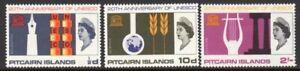 Pitcairn Islands Scott # 64-6 VF Unused 1966 UNESCO Anniversary